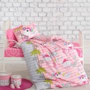 Lenjerie de pat pentru copii 4 piese Cotton box roz