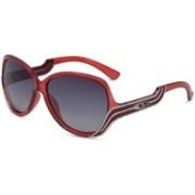 KEEDA Oval Sunglasses(Black)