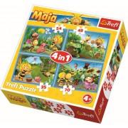 Puzzle clasic copii - Aventurile albinutei Maya 4 in 1