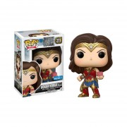 Funko Pop Wonder Woman Exclusivo Sticker With Motherbox Justice Mujer Maravilla