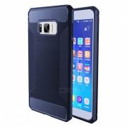 Alambre de dibujo de fibra TPU para Samsung Galaxy S8 Plus-Ming azul