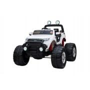 Ford Ranger Monster Truck 4X4, masina electrica Alba, 2.4Ghz, Pornire moale, intrare USB / Radio / SD / MP3 cu conectivitate Bluetooth, indicator capacitate baterie, roti uriașe EVA, suspensie, LED-uri, baterie precisa