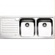 apell Lv000611 Lavello Cucina 2 Vasche Incasso Con Gocciolatoio Sx Larghezza 116 Cm Materiale Acciaio Inox Finitura Antigraffio - Ve1162ilac Serie Venezia