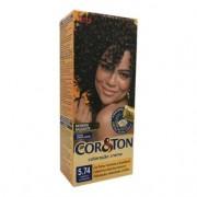 Coloração Creme Cor & Ton Niely Marrom Acobreado 5.74