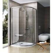 Ravak Pivot PSKK3-100 Háromrészes negyedköríves zuhanykabin szatén kerettel transparent edzett biztonsági üveg betéttel 376AAU00Z1