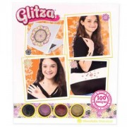 Комплект брокати Glitza - 100 дизайна Мандала Ориентал с 4 цвята, Glitza, 384011