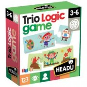 Joc Logic Trio.Include 36 de carti cu inserturi de auto-corectare.