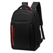 INDEPMAN DL-B014 Fashion Korean Style 15 inch - 17 inch Nylon Laptop Notebook Computer Bag Backpack Shoulders Bag with Adjustable S-shaped Shoulder Strap for Men and Women Size: 34 x 48 x 14 cm(Black)