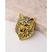 Dare by Voylla Evil Collection Wolf Head Brooch