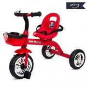 Baybee Speed Racing Tricycle Kid's Trike with The Smart Plug and Play Baby Tricycle/Bicycle with Seat Belt Kid's Ride on Outdoor | Suitable for Boys & Girls-(1 to 5 Years) Red