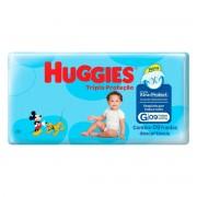Fraldas Descartáveis Infantis Huggies Turma da Mônica Tripla Proteção Tamanho Grande Com 9 Unidades