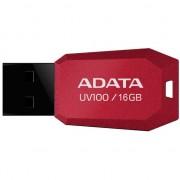 Memorie USB ADATA UV100, 16GB, USB 2.0, Rosu
