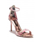 Ted Baker London Charv Floral Ankle Strap Sandal PAINTED POSIE