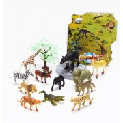Animals Figure, Piece Mini Jungle Animals Toys Set, Zoo World Realistic Wild Vinyl Plastic Animal Learning Resource Party Favors Toys For Boys Kids Toddlers Forest Small Farm Animals Toys Playset by MIDS