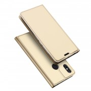 DUX DUCIS Skin Pro Series Card Holder Stand Leather Mobile Shell for Xiaomi Mi Max 3 - Gold