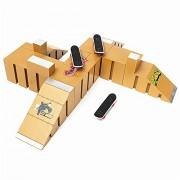 Generic Skate Park Ramp Parts for Tech Deck Fingerboard Finger Board Ultimate Parks 92C One Piece