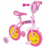 """Bicicleta cu/fara pedale 2in1 MVS Peppa Pig 10"""" Pink"""