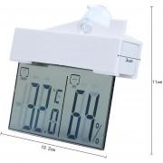 Louiwill Mini Monitor De Humedad Higrómetros De Temperatura Themometer Digital Interior, Blanco