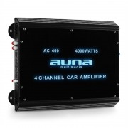 Auna W2-Ac400 Amplificatore Finale Auto 4000W - 360W RMS 4 Canali