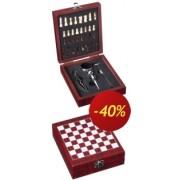 Krabička šachy s příslušenstvím dřevěná