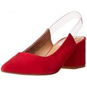 Steve Madden Date 605 Zapatillas Altas para Mujer, Color Red Suede, 26 Mexico M Mexico