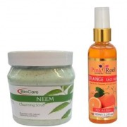 PINK ROOT ORANGE FACE WASH 100ML WITH BIOCARE NEEM SCRUB 500GM