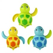DDLBiz New Born Babies Small Animal Swim Turtle Bath Toy Wound-up Chain Classic Toys(Random color)