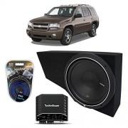 "Harmony Audio 2002-2009 Chevy Trailblazer Rockford Punch P1S212 Single 12"" Custom Sub Box Enclosure & R250X1 Amp"