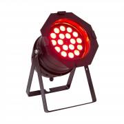 lightmaXX LED PAR 64 Mega negro 18x 8W RGBW-QUAD LEDs
