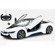 Radio Control Model Car 1/14 BMW i8 Authentic Body Styling w/Open Doors RC Vehicles (White) by Midea Tech