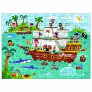 Puzzle pentru copii Galt Calatoria piratilor, 100 piese, 6 ani+