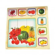 Puzzle lemn 3d Fructe