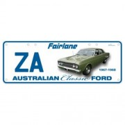"""Novelty Number Plate - Ford ZA Fairlane - Sm"""