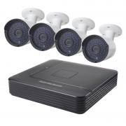 COTIER A4B2 4 kanaals 720P 1.0 megapixel Bullet IP-Camera NVR Kit de visie van de nacht van de steun / bewegings-detectie IR afstand: 20m