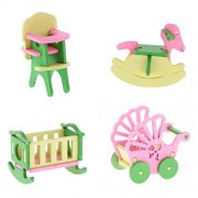 Segolike Handmade Doll House Miniature Wooden Furniture Dolls House Accessories Toys - multi-colored, #2