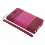 Glitty booktype hoes voor de iphone 4 / 4s - fuchsia