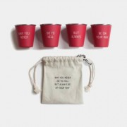 Shot glas - May you never, 4-pack