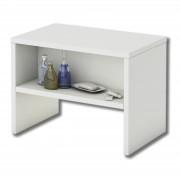 CARO-Möbel Nachttisch NEY mit offenem Fach in weiß