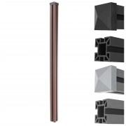 WPC-Pfosten Sarthe-WPC-Zaun, Pfeiler Pfahl, Stecksystem 1,88m ~ Variantenangebot