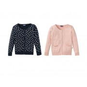 LUPILU® Cardigan voor meisjes (86/92, marine/roze)