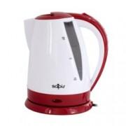 Електрическа кана SAPIR SP 1230 B, вместимост 1.8 литра, 1800W, бял/червен