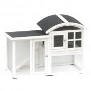 """@Pet @Pet @Pet Králikáreň """"Avoriaz"""", bielo-čierna, 130x62x90.5 cm, 20085"""