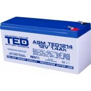 Acumulator stationar VRLA AGM 12V 1.4Ah F1 T1 TED Electric