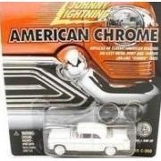 JOHNNY LIGHTNING AMERICAN CHROME WHITE/TAN 1955 CHRYSLER C-300