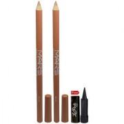 Mars Lip Eye Line Pencil 2PCs With Free Laperla Kajal