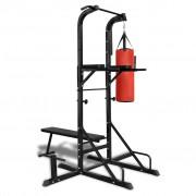 vidaXL Kombinált edzőgép / kondigép felülőpaddal és bokszzsákkal