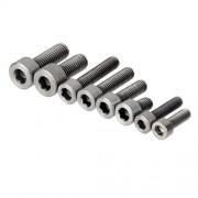 ELECTROPRIME 10pcs M5*20 Titanium Alloy Screws Hexagon Cap Head Socket Allen Key Bolt