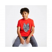 Kids' Go Beyond Graphic T-Shirt Fiery Red