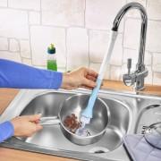 Perie vase cu furtun flexibil pentru robinet