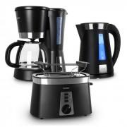 Klarstein Sunday Morning комплект за закуска, кафе машина, тостер и кана (TK8-KM-KETO-B)
